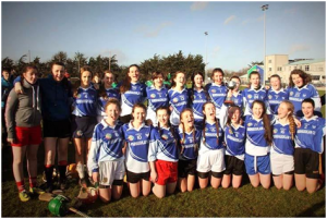 The Dunshaughlin girls celebrate